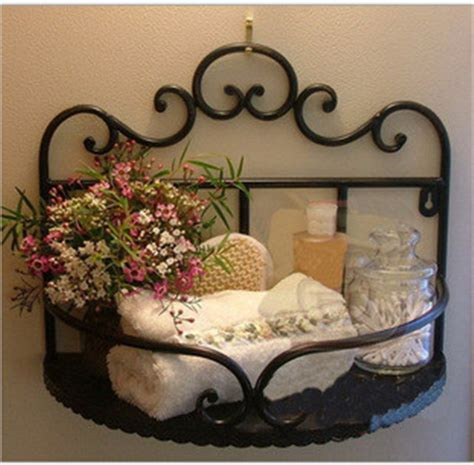 wrought iron wall shelf corner shelf household soap holder