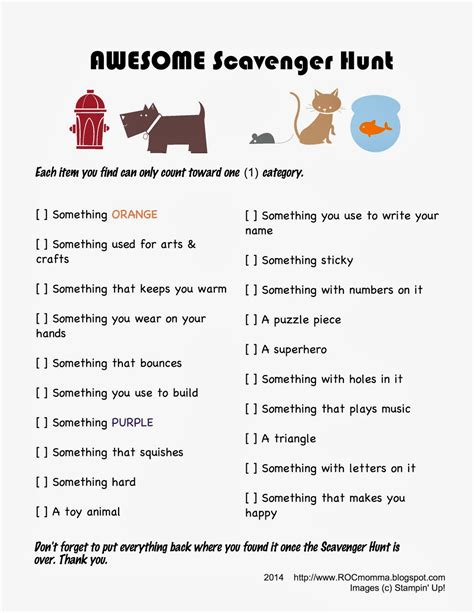 printable toddler scavenger hunt rocmomma