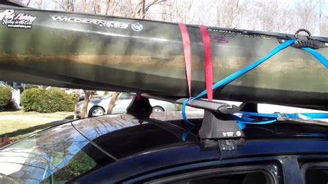 How To Attach Kayak To Roof Rack by Strapping Kayak To Roof Rack
