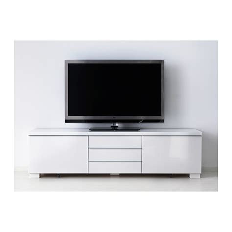 Besta Burs Tv Stand best 197 burs tv bench high gloss white 180x41 cm ikea