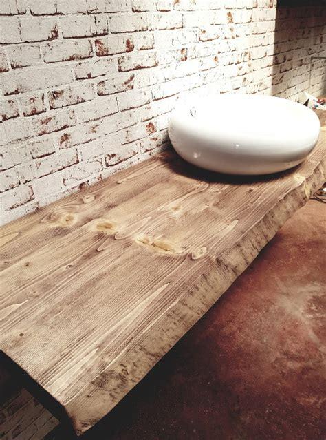 mensola appoggio lavabo top da bagno per lavabo in legno massello stefanie