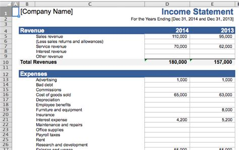 Financial Spreadsheet For Small Business by 10 Helpful Spreadsheet Templates To Help Manage Your Finances