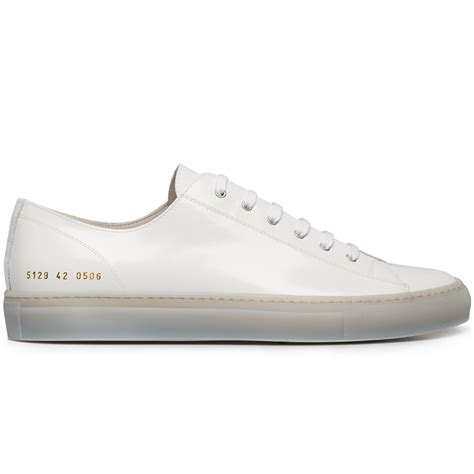 by common projects sneakers common projects tournament patent leather sneakers in