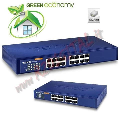 Switch Hub Tenda hub switch teg1016d tenda 16 porte 11 pollici server 100 1000 ethernet sdoppiatore giga lan