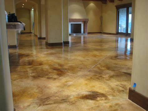 Concrete Stained Floors by Work And Stained Concrete Flatrockconstruction