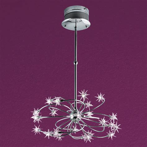 Starburst Chandelier Lowes shop eurofase starburst 24 light chrome chandelier at lowes