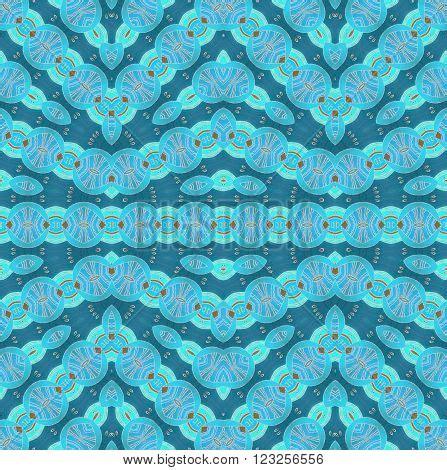 seamless pattern pale gray turquoise curls abstract geometric seamless image photo bigstock