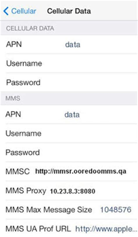 ooredoo qatar 4g apn settings for android iphone htc