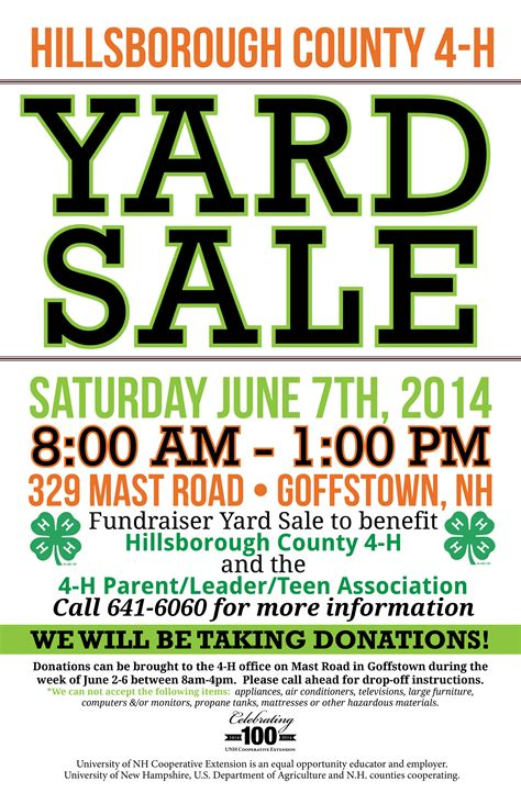 yard sale flyer template word 4 h youth development cooperative extension