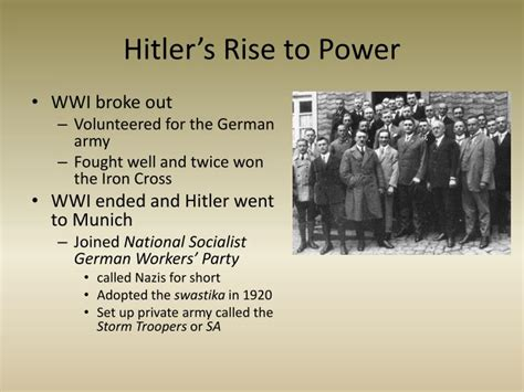 biography of hitler s rise to power ppt rise of totalitarian dictators powerpoint