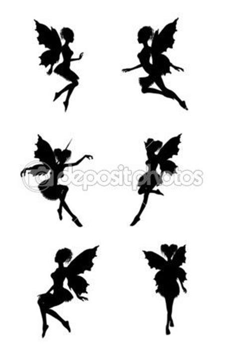 silhouette tattoo paper uk fairy silhouettes stock image 2692428 anime
