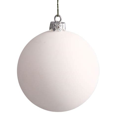 vickerman 25113 12 quot white matte ball christmas tree