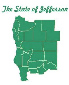 state of jefferson map state of jefferson