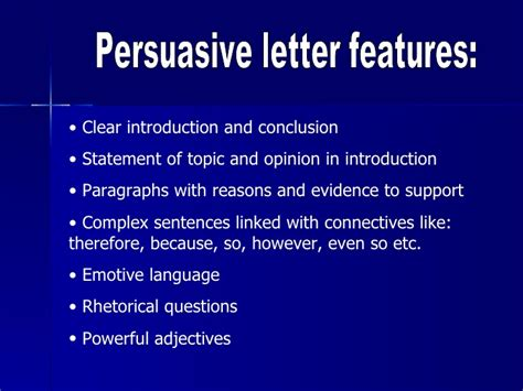 layout features of a letter persuasive letter ppt writing exles best free