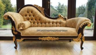 Gold and mahogany ornate hampshire chaise medium size