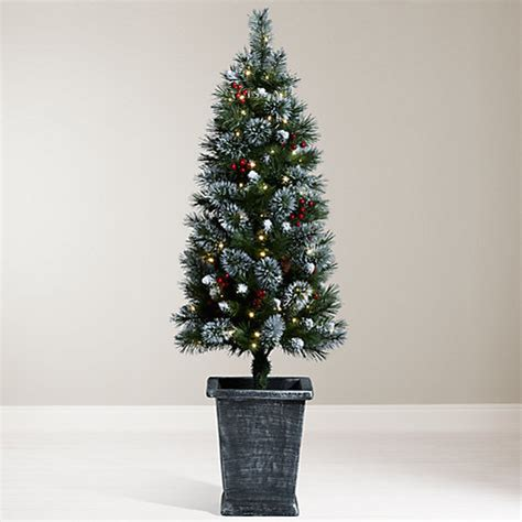 buy john lewis pre lit potted christmas tree 4 5ft john