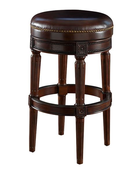 Bar Stools Backless Leather by Chapman Backless Leather Quot Ready To Ship Quot Memory Swivel Bar