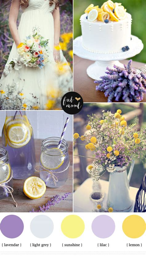 lilac and yellow wedding theme lemon lavender wedding colors lavender wedding colors