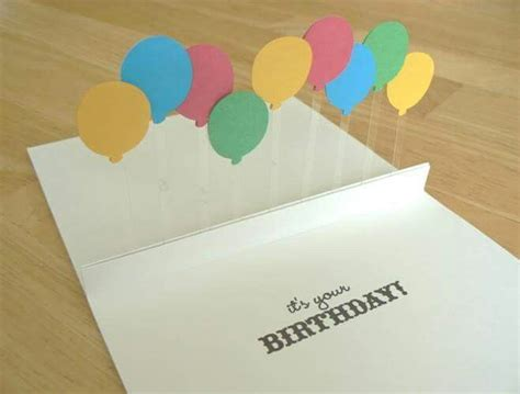 balloon pop up card template 25 best ideas about birthday cards on diy