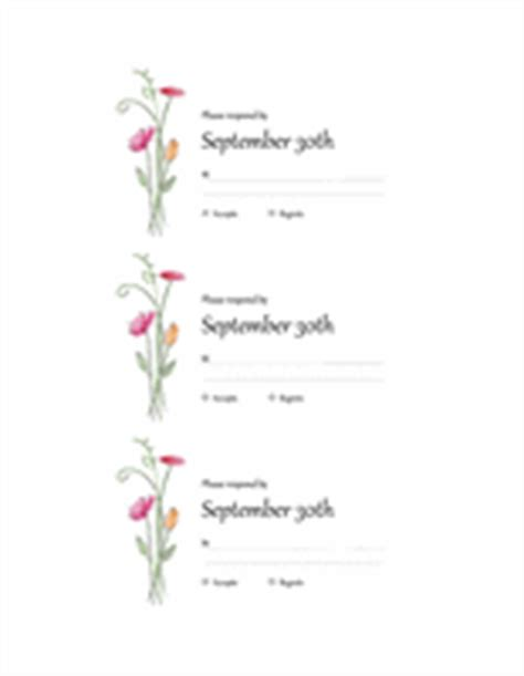 rsvp card template 2 per sheet wedding invitations watercolor design 2 per page works