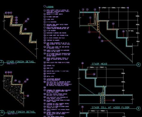 stair section detail dwg stair details cad drawings download cad blocks urban city