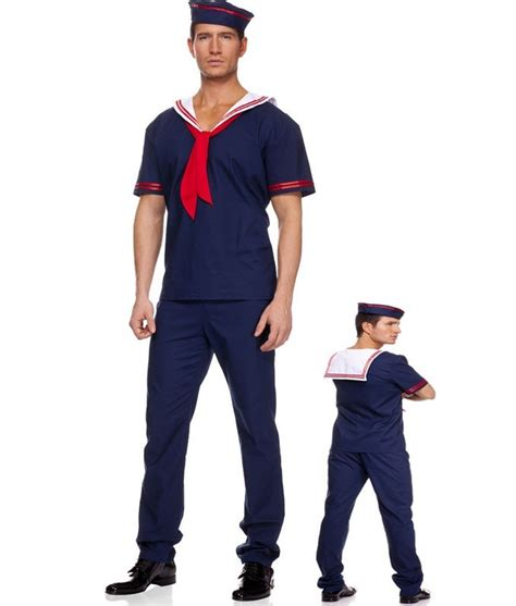 plus size navy costume men sailor costume worker uniform