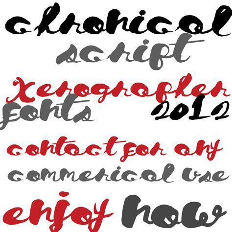 xerographer dafont chronical script font dafont com