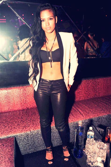 Cassie Ventura in Miami Beach   Leather Celebrities