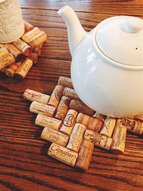 diy cork crafts diy herringbone cork trivet crafty