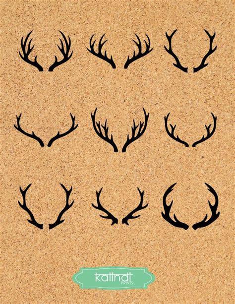 deer antler clip deer antler svg deer horns vector graphic deer antler