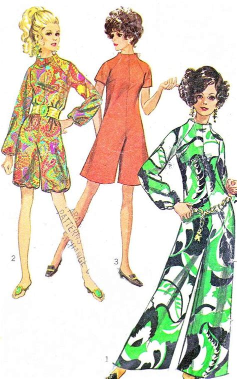 1960s womens jumpsuit and romper pattern simplicity 8146 1960s womens jumpsuit pattern simplicity 7909 womens