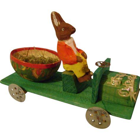 Vintage Easter Figurine Shop Collectibles - vintage easter bunny car from paulannturner on ruby