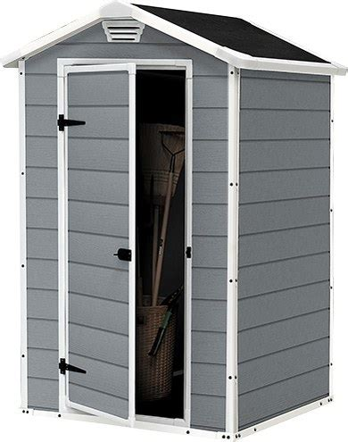 Keter Manor 4x3 Shed by Keter Manor Resin Booth 4x3 128x94x196cm Garden Jardinitis