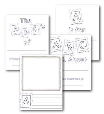 Free Printable Alphabet Book Template | classroom freebies alphabet book template