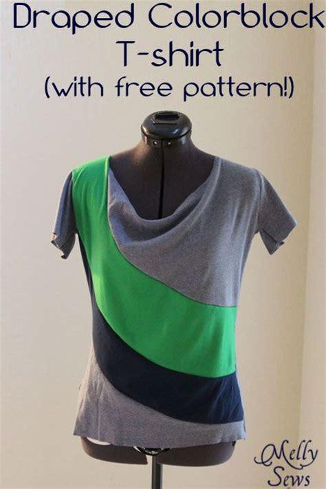draped shirt pattern draped colorblock t shirt with free pattern sewing
