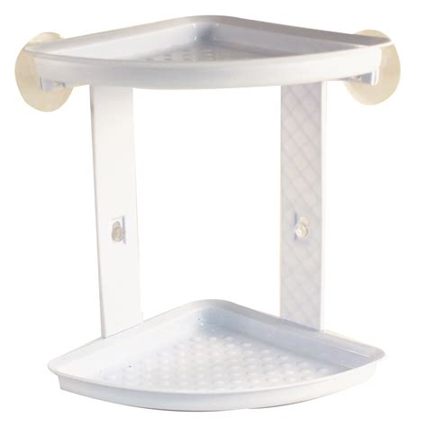 suction cup shelf bathroom ldr industries corner shower caddy 2 shelf with suction