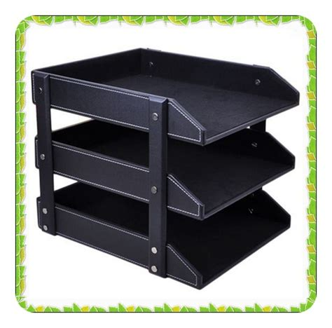 Desk Paper Holder In File Tray From Office School Paper Stand For Desk