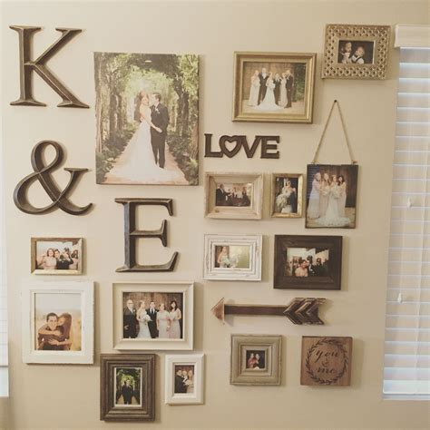 wall frame ideas my gallery wall of wedding photos photo collage ideas