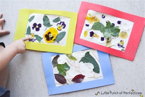 photo crafts for nature collage easy reusable craft frame for