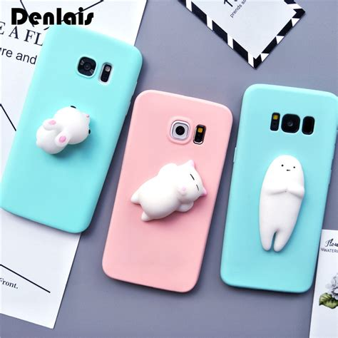 Terbaru Casing Cat Squishy Casing For Samsung Galaxy S7 squishy 3d silicon cat rabbit seal phone cases for samsung galaxy a3 a5 a7 j5