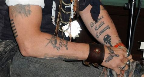 johnny depp finger tattoo johnny depp arm tattoos tattoos