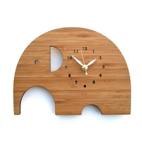 Cool Wall Clocks by Elephant Wall Clock With Wooden Ideas