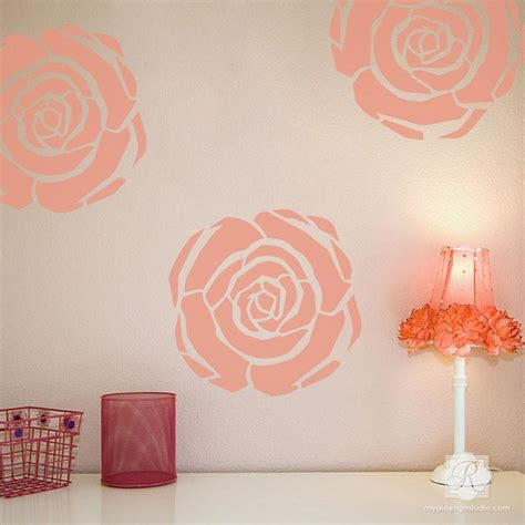 room stencils designs flower stencils deco flower furniture wall
