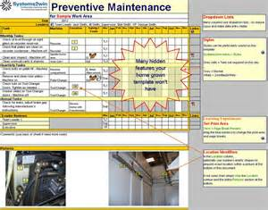 free preventive maintenance schedule template schedule