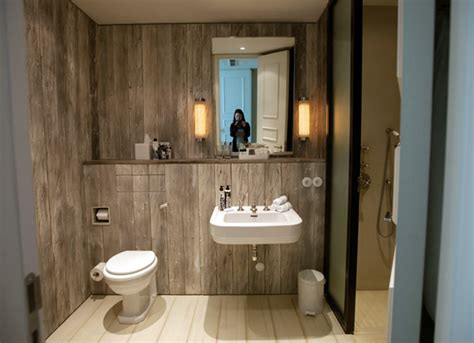 cladded bathrooms soho house berlin cladded timber simple bathroom vanity shelf with mirror house