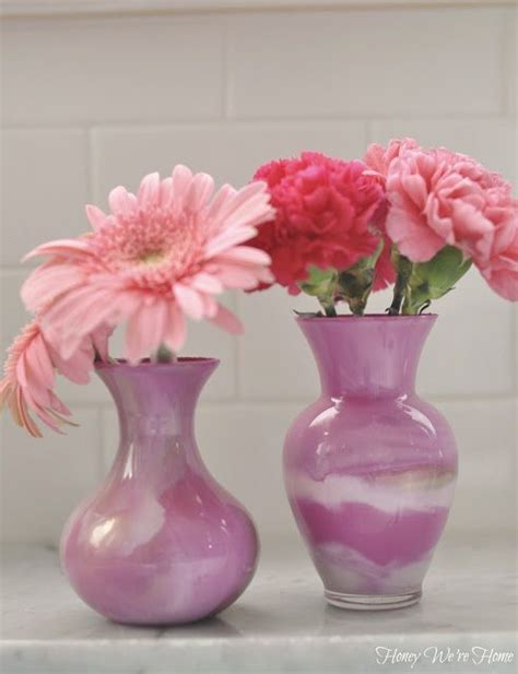 What Were Vases Used For by Diy Paint Swirl Vases Honey We Re Home