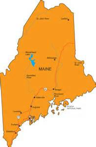 the state of map me map maine state map