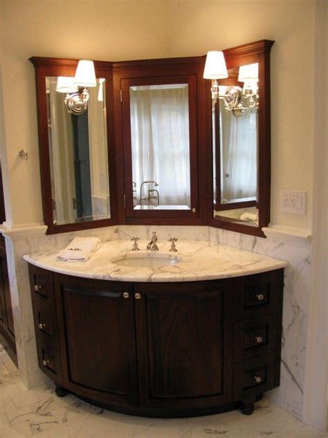 Corner Mirror Bathroom by Corner Vanity Http Lanewstalk Choosing A Corner