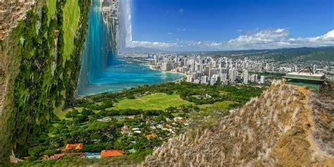 warped worlds  surreal digitally manipulated landscapes