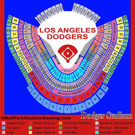 dodger stadium seating chart view new map 2017